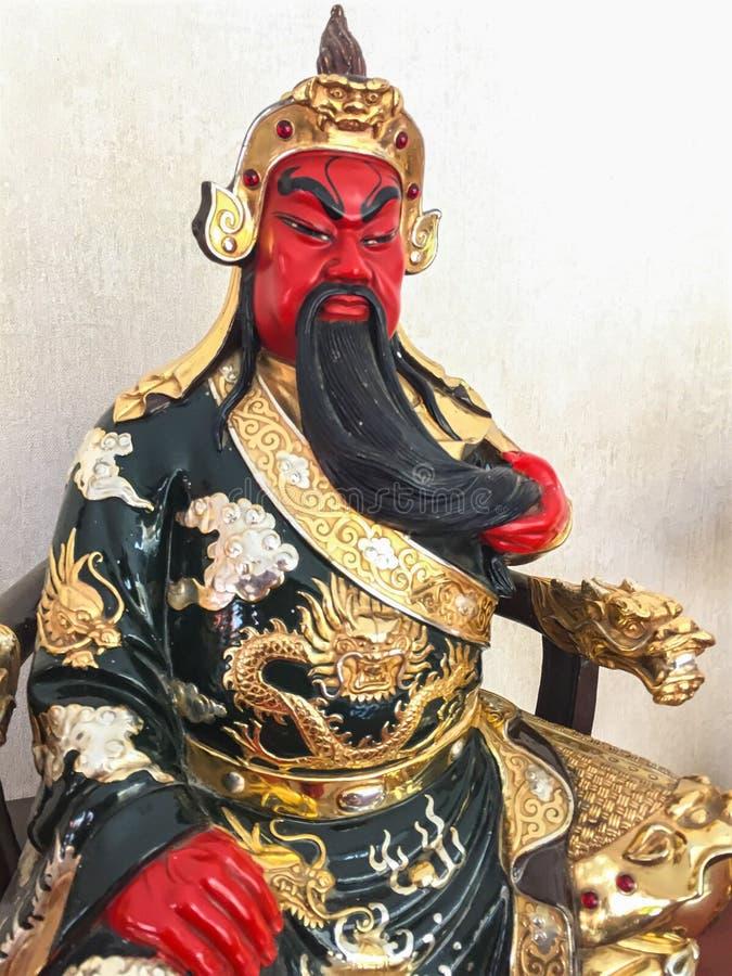 Beeldje van legendarisch Chinees Kuan Yu God van oorlog royalty-vrije stock fotografie