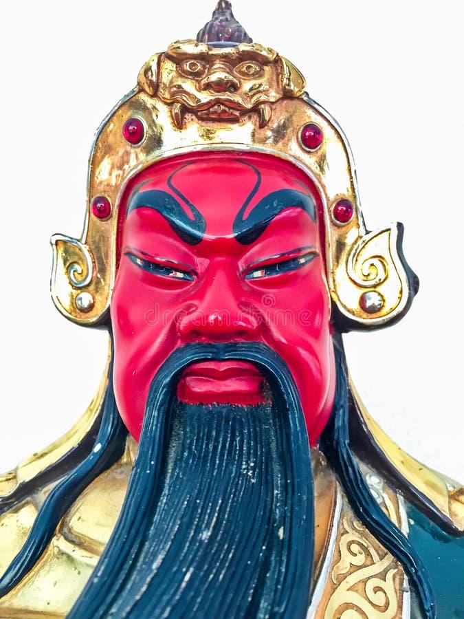 Beeldje van legendarisch Chinees Kuan Yu God van oorlog royalty-vrije stock afbeelding