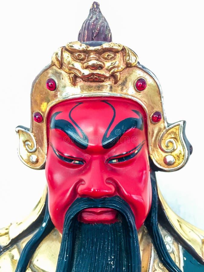 Beeldje van legendarisch Chinees Kuan Yu God van oorlog stock fotografie
