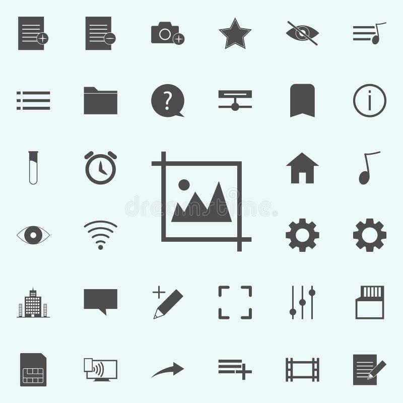 Beeldpictogram voor Web wordt geplaatst dat en het mobiele algemene begrip van Webpictogrammen stock illustratie