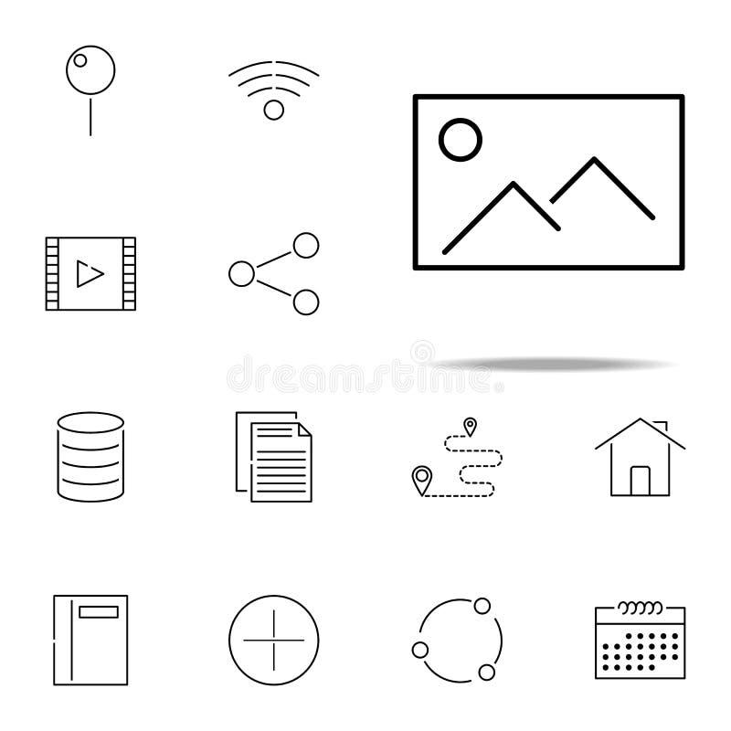 Beeldpictogram Web, minimalistic die voor Web wordt geplaatst en mobiel pictogrammenalgemeen begrip royalty-vrije illustratie