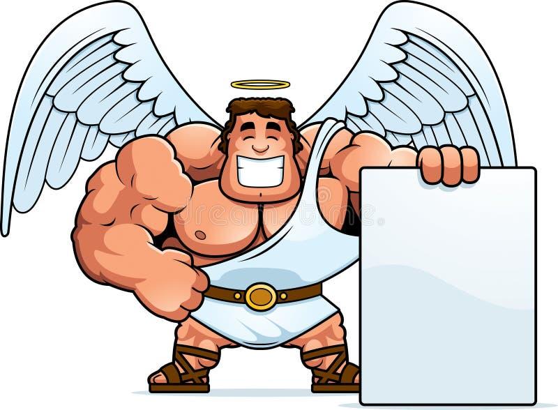 Beeldverhaal Angel Sign vector illustratie