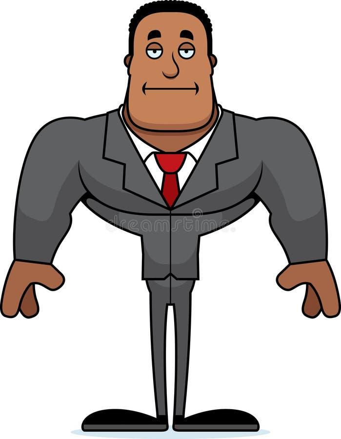 Beeldverhaal Bored Businessperson vector illustratie