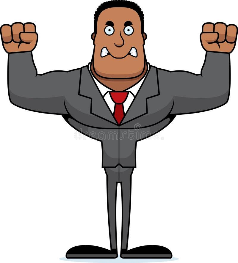 Beeldverhaal Boze Businessperson royalty-vrije illustratie