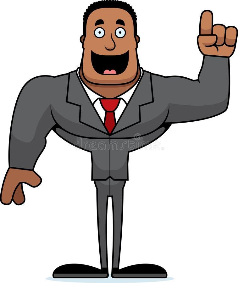 Beeldverhaal Businessperson Idea vector illustratie
