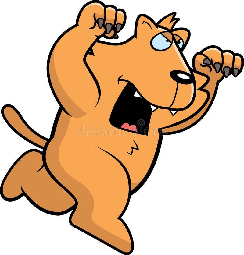 Beeldverhaal Cat Attacking stock illustratie