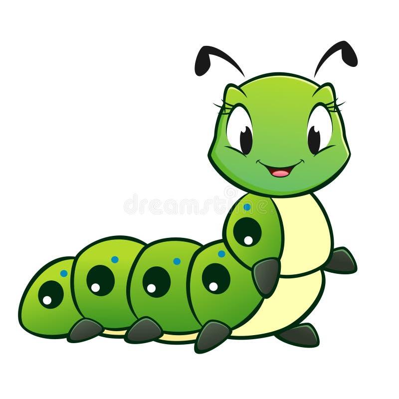 Beeldverhaal Caterpillar royalty-vrije illustratie