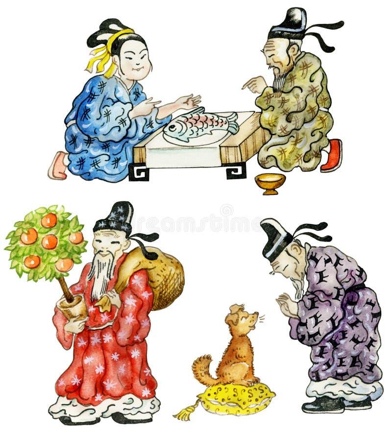 Beeldverhaal Chinees vector illustratie