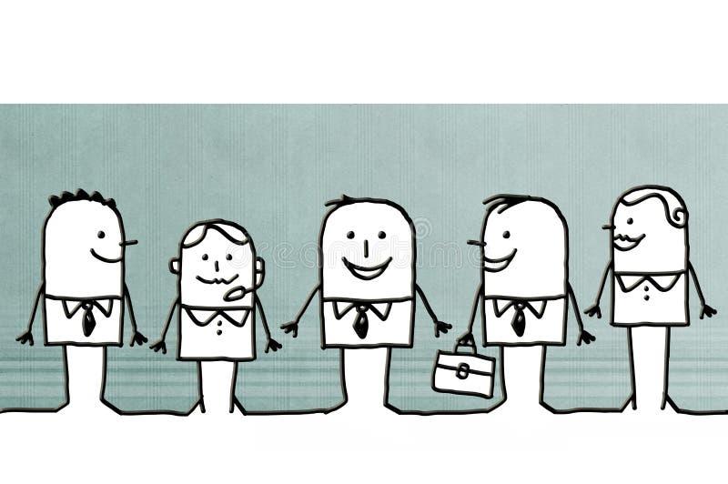 Beeldverhaal commercieel team royalty-vrije illustratie