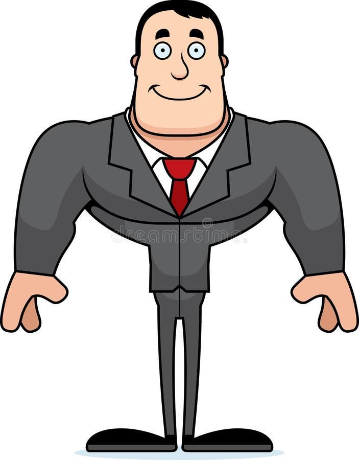 Beeldverhaal die Businessperson glimlachen stock illustratie