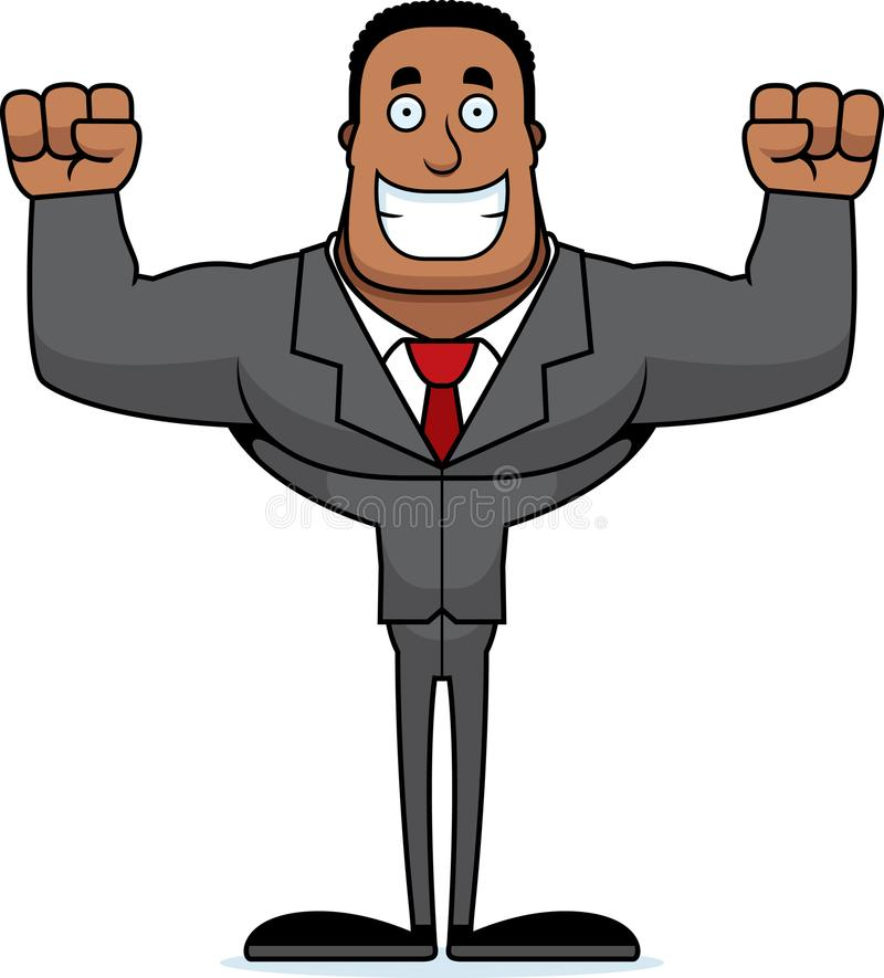 Beeldverhaal die Businessperson glimlachen vector illustratie