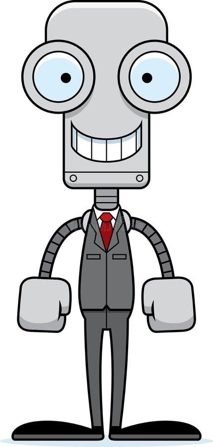 Beeldverhaal die Businessperson Robot glimlachen vector illustratie