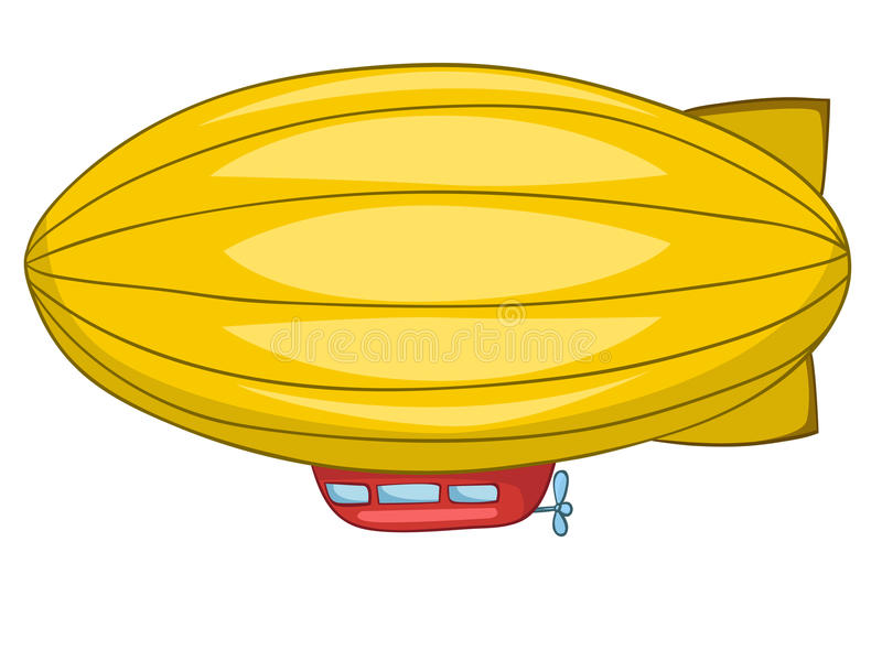 Beeldverhaal Dirigible vector illustratie