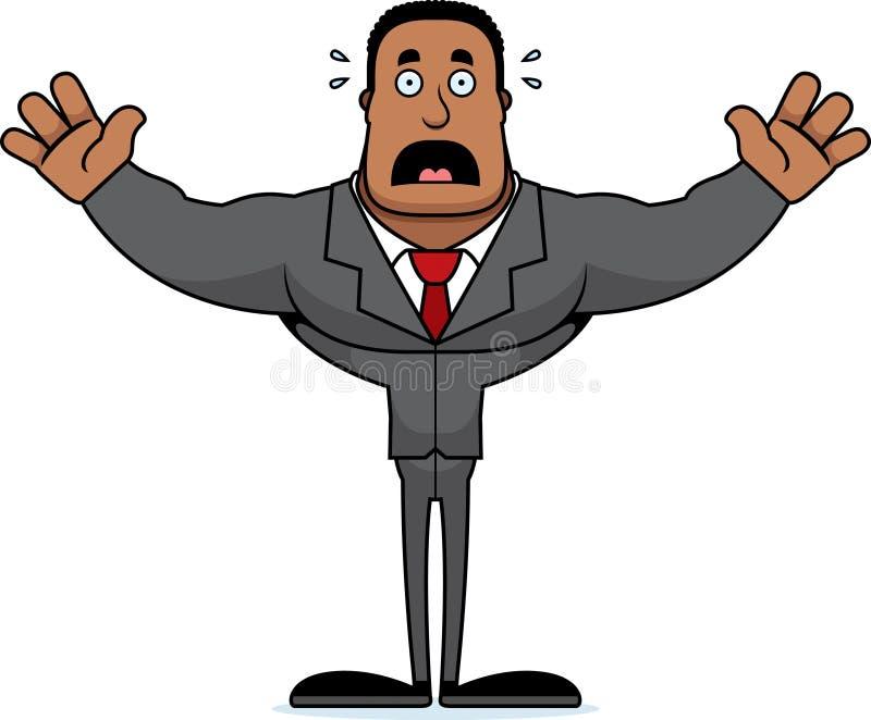 Beeldverhaal Doen schrikken Businessperson vector illustratie