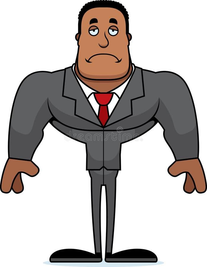Beeldverhaal Droevige Businessperson royalty-vrije illustratie