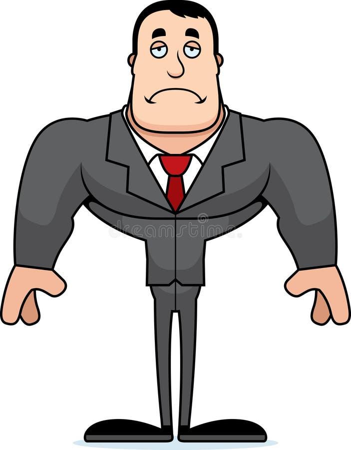 Beeldverhaal Droevige Businessperson stock illustratie