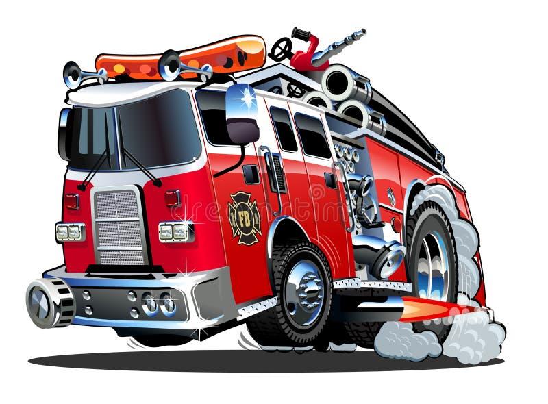 Beeldverhaal firetruck vector illustratie