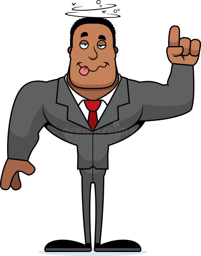 Beeldverhaal Gedronken Businessperson vector illustratie
