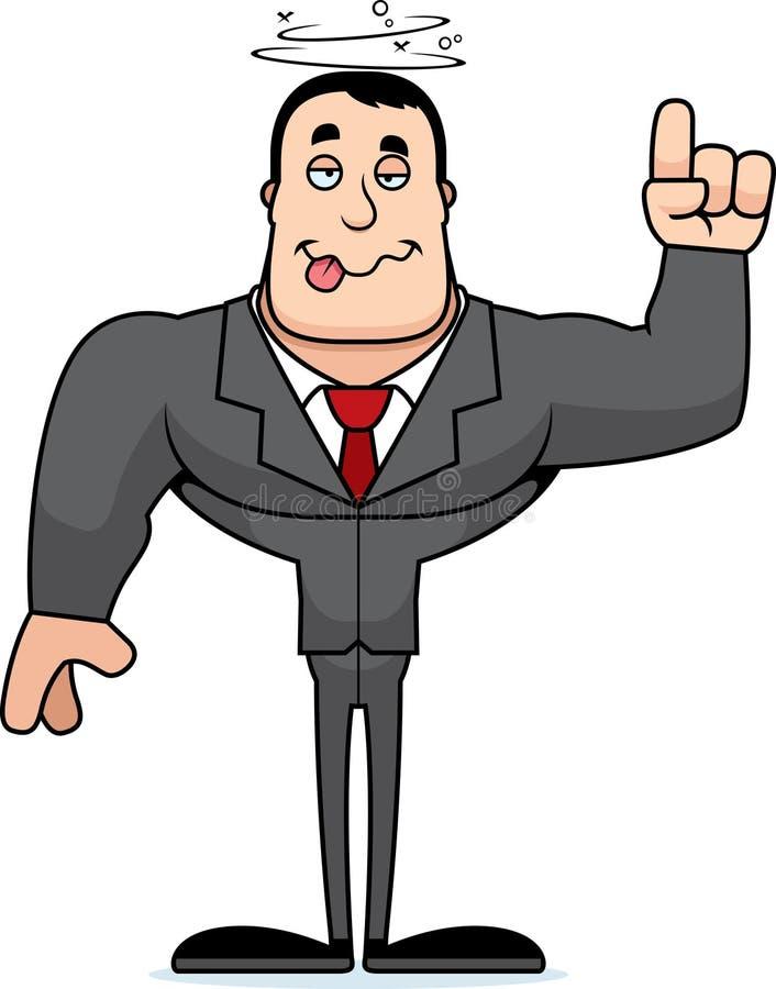 Beeldverhaal Gedronken Businessperson stock illustratie