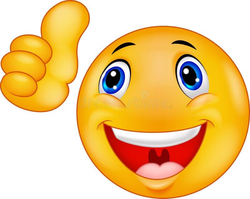 Beeldverhaal Gelukkig Smiley Emoticon Face vector illustratie