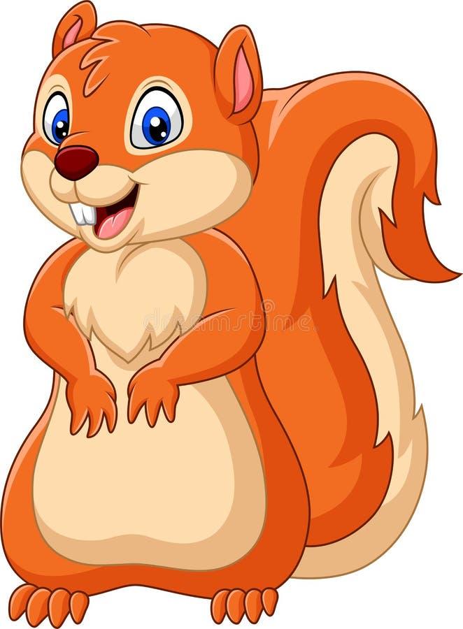 Beeldverhaal gelukkige eekhoorn stock illustratie