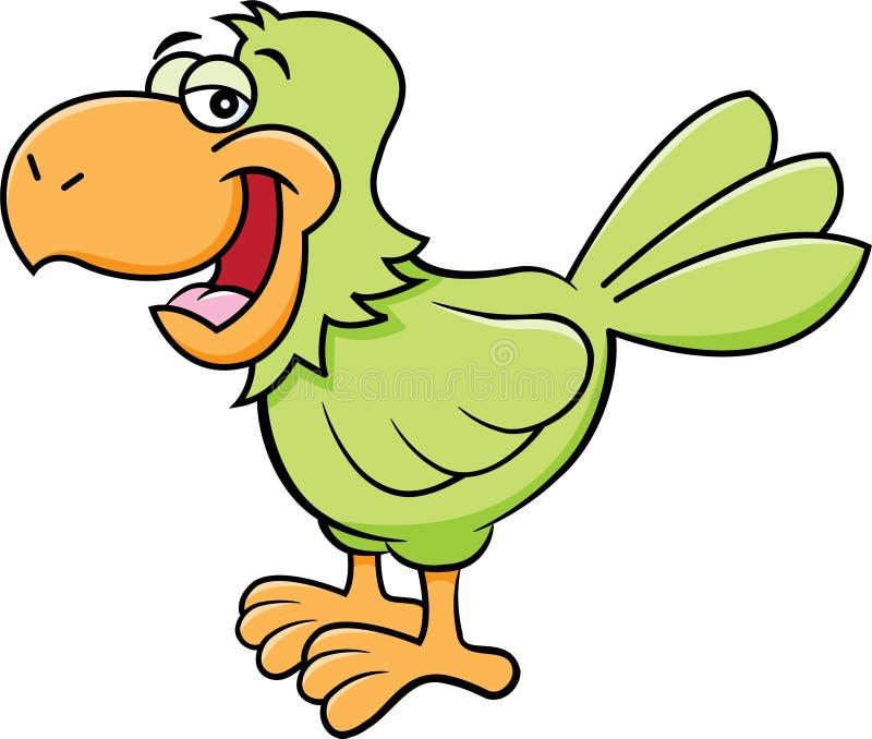 Beeldverhaal gelukkige papegaai stock illustratie