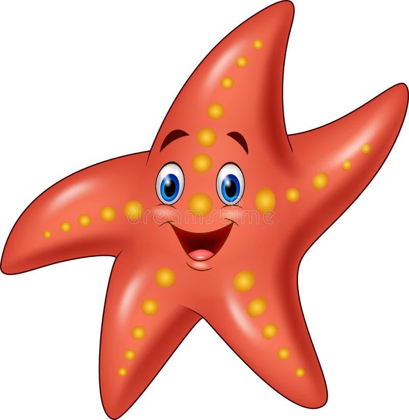 Beeldverhaal gelukkige zeester vector illustratie