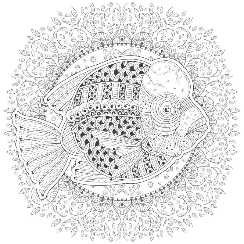 Beeldverhaal Gestileerde moorii van Vissencyrtocara vector illustratie