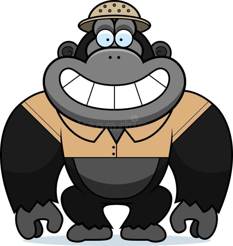 Beeldverhaal Gorilla Safari stock illustratie