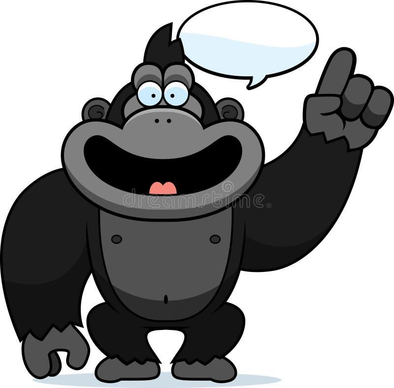 Beeldverhaal Gorilla Talking royalty-vrije illustratie