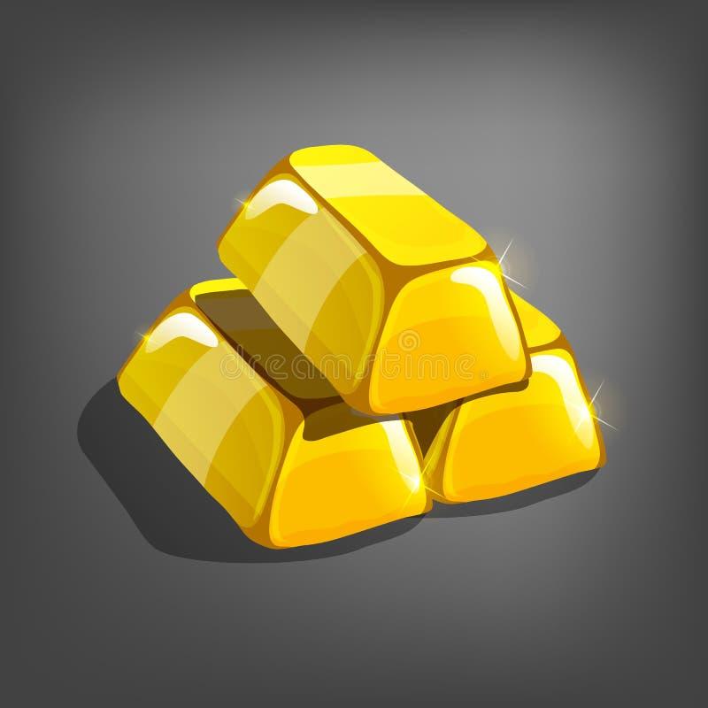 Beeldverhaal gouden bars vector illustratie