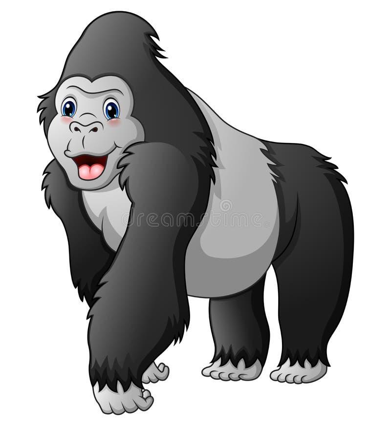 Beeldverhaal grappige gorilla royalty-vrije illustratie