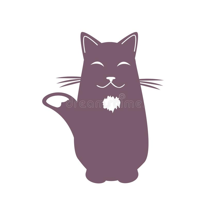 Beeldverhaal het dromen kat Grappig koel karakter Vector illustratie vector illustratie