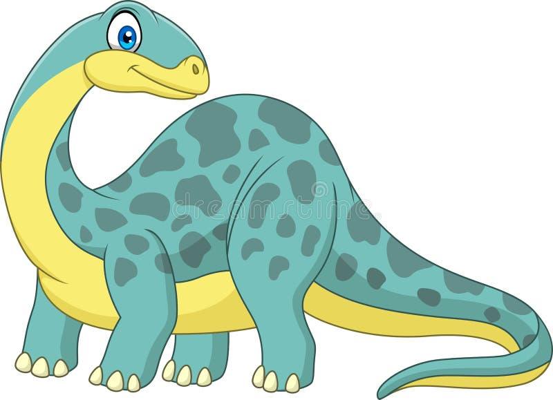 Beeldverhaal het glimlachen brontosaurus royalty-vrije illustratie