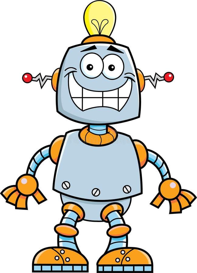 Beeldverhaal het glimlachen robot vector illustratie