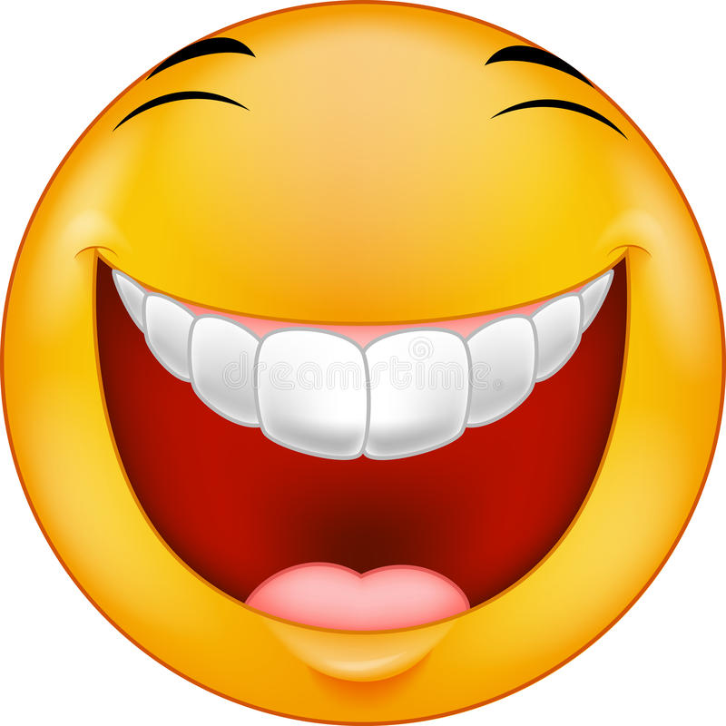 Beeldverhaal het Lachen smiley vector illustratie