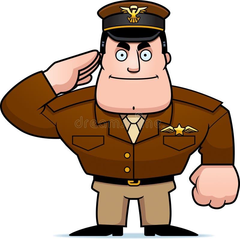 Beeldverhaal Kapitein Salute vector illustratie
