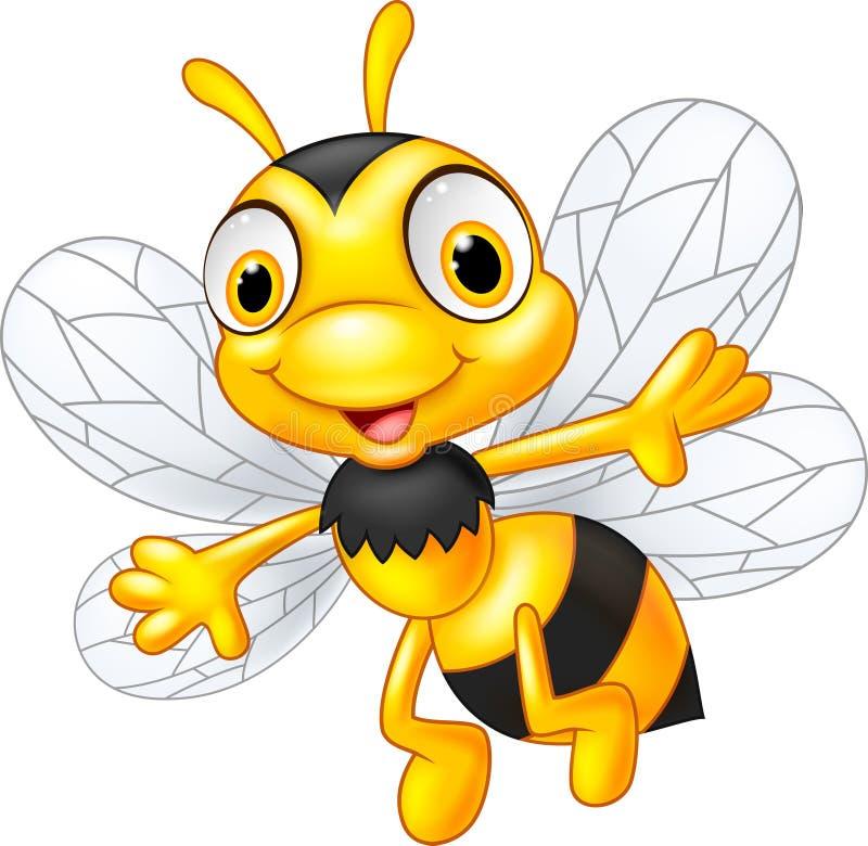 Beeldverhaal leuke bijen royalty-vrije illustratie