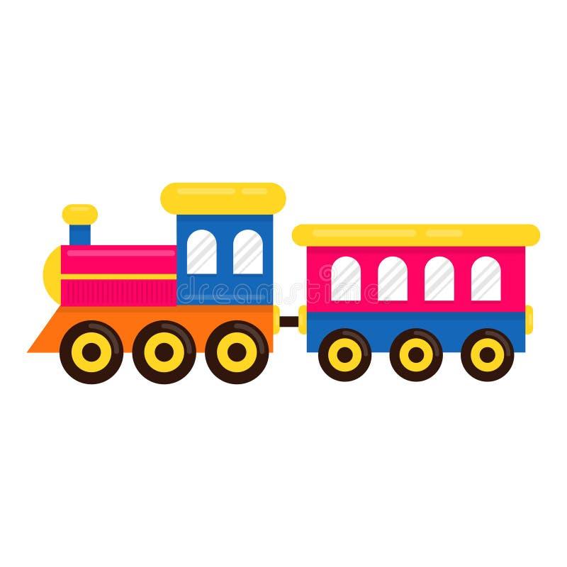 Beeldverhaal leuke trein met spoorwegvervoer stock illustratie