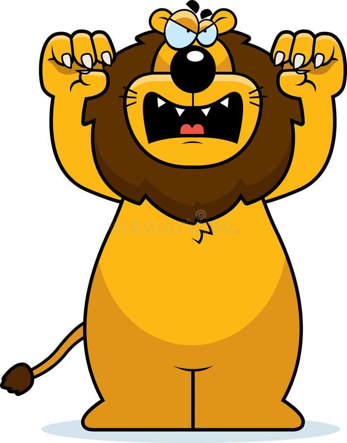 Beeldverhaal Lion Attacking stock illustratie