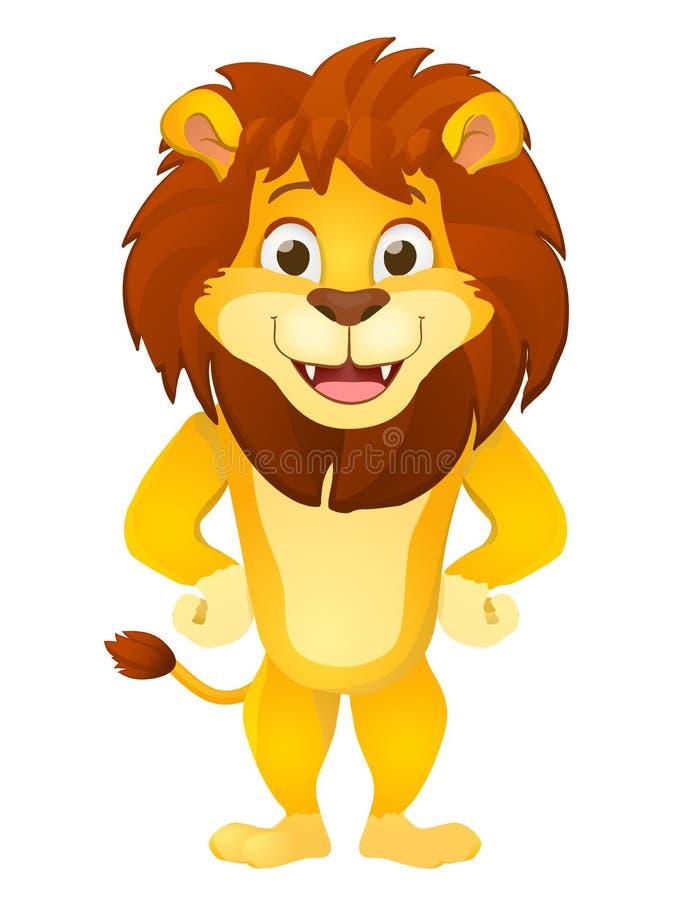 Beeldverhaal Lion Smiling stock illustratie