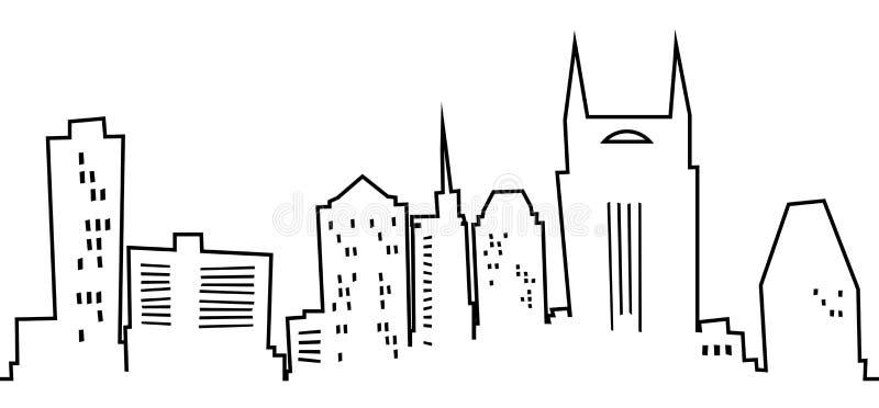 Beeldverhaal Nashville vector illustratie