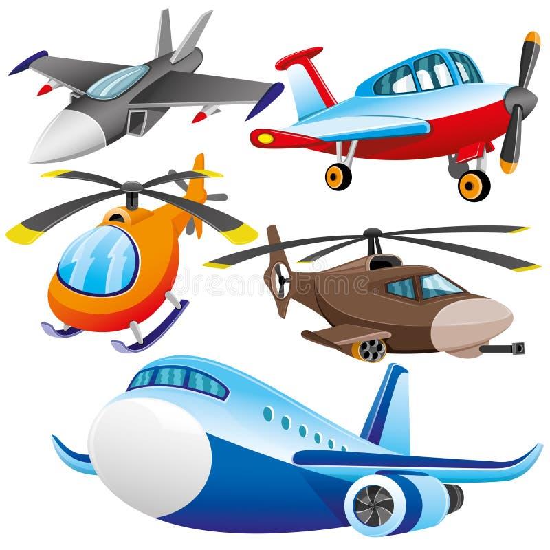 Beeldverhaal polair met harten luchtvaart royalty-vrije illustratie