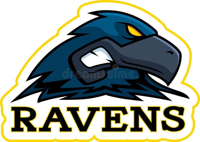 Beeldverhaal Raven Mascot royalty-vrije illustratie