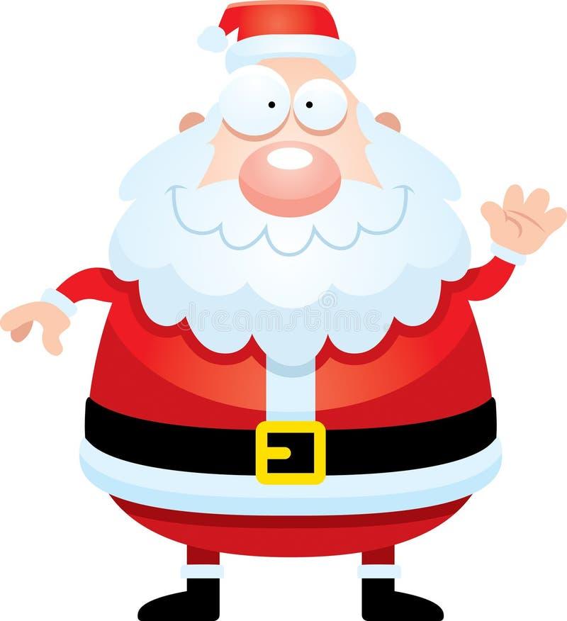 Beeldverhaal Santa Claus Waving stock illustratie