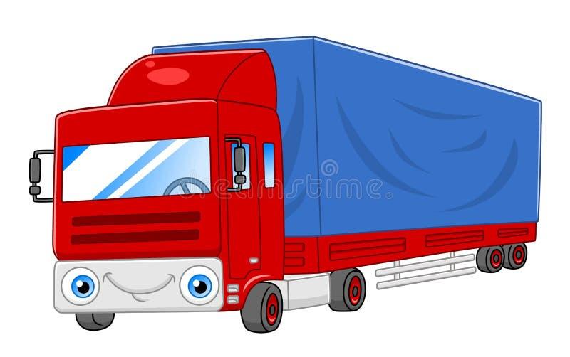 Beeldverhaal semi-vrachtwagen royalty-vrije illustratie