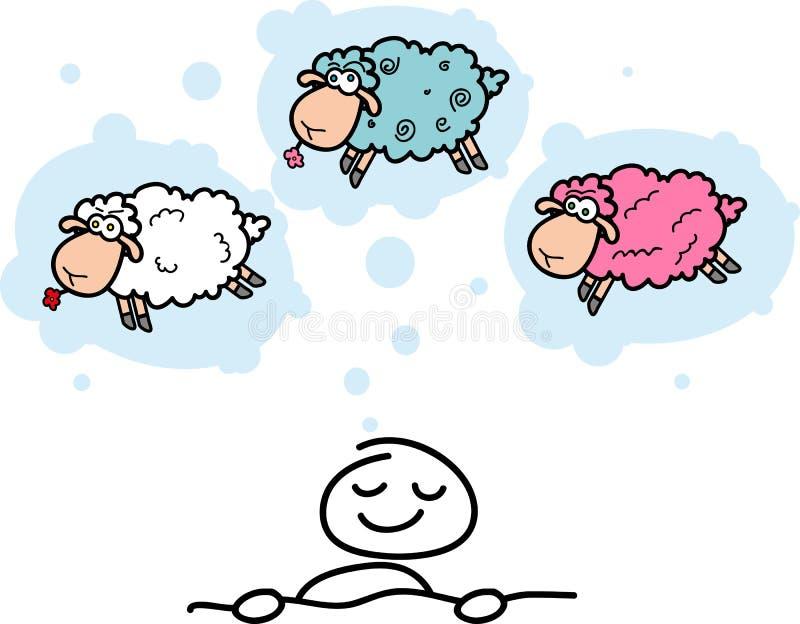 Beeldverhaal sheeps stock illustratie