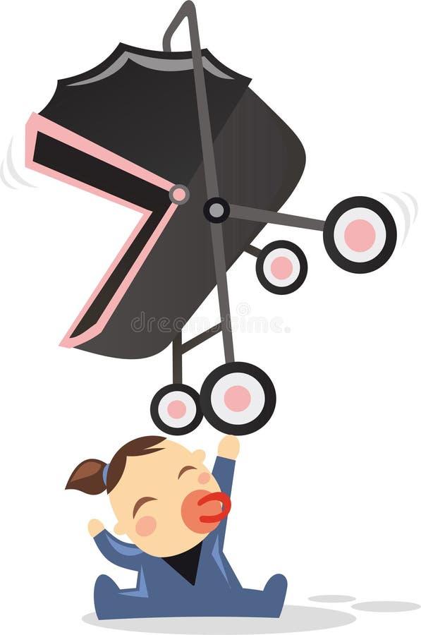 Beeldverhaal super baby stock illustratie