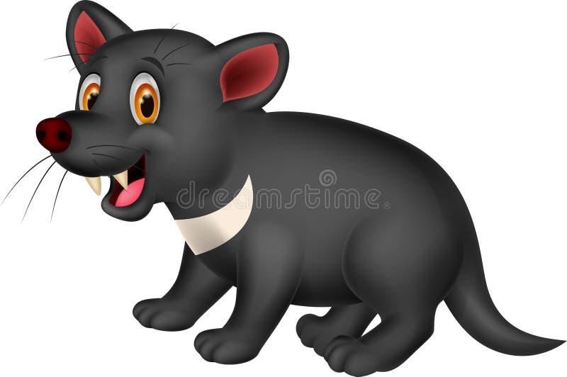 Beeldverhaal Tasmaanse duivel stock illustratie