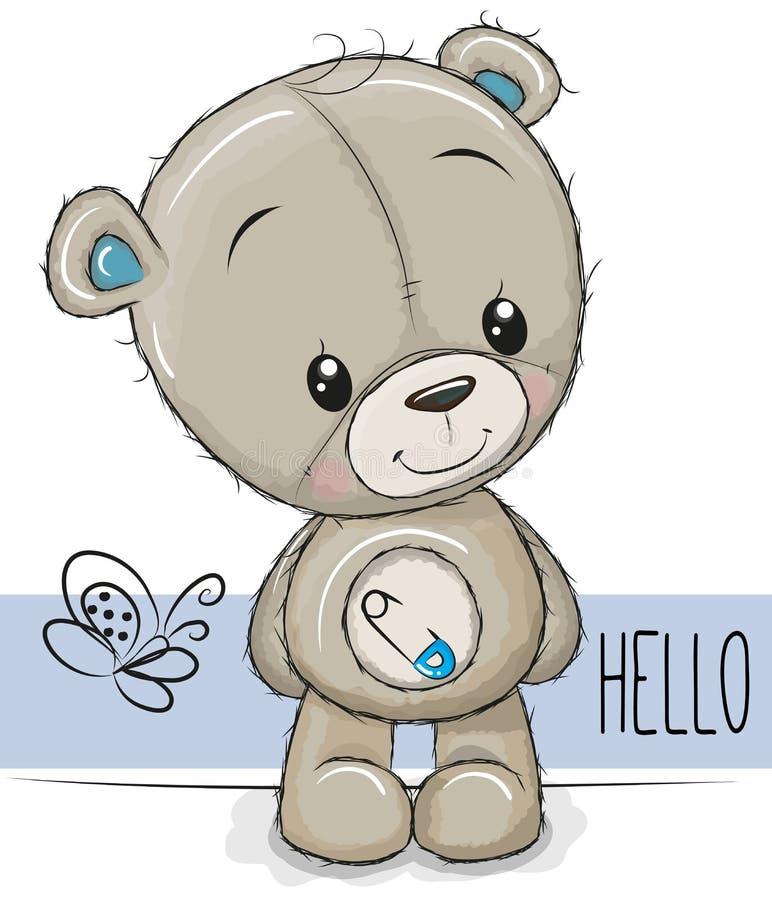 Beeldverhaal Teddy Bear op een witte achtergrond vector illustratie